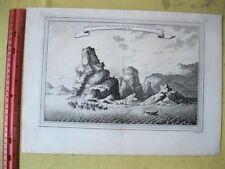 Vintage Print,MONTAGNE DES CING TETES DE CHEVAL PRES DE CHAT CHEU FU,c1760