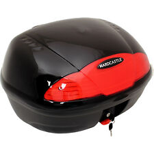 BLACK 51L MOTORBIKE TOP BOX MOTORCYCLE/BIKE LUGGAGE/CARGO STORAGE/BACK TOPBOX