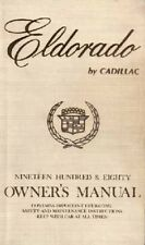 1980 Cadillac Eldorado Owners Manual User Guide Reference Operator Book Fuses OE