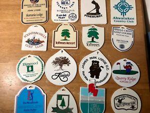 Lot of 16 Vintage Golf Bag Tags