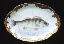 Antique Artist Signed Josephine Gaunt/ Hutschenreuther Fish Serving Platter