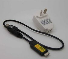 USB AC/DC Battery Power Charger Adapter for Samsung PL10 PL20 PL50 TL240 Camera