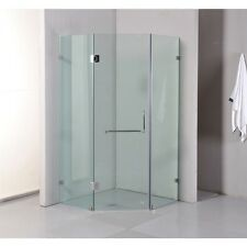 New Frameless shower screen 10mm Glass 900X900X2000 Includes Base with a Grate
