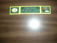 TIGER WOODS (2019 MASTERS) NAMEPLATE FOR AUTOGRAPHED BALL DISPLAY/FLAG/PHOTO