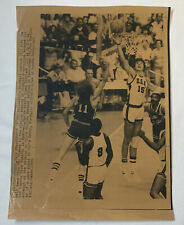 1976 sepia press photo~ USA vs PUERTO RICO Olympic basketball ~ Mitchell Kupchak