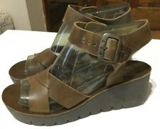 FLY London, COZY, Brown Leather Sandals, New, 39, M