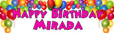 4ft Personalized Name Color Balloons Balloon Birthday Party Banner