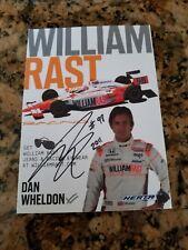 DAN WHELDON  Signed (2 Time INDY 500 WINNER) WILLIAM RAST PROMO CARD + RACE CAP.