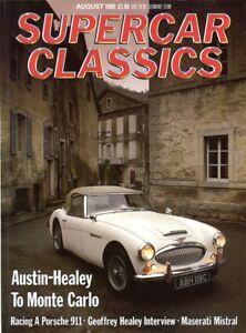 Supercar Classics 8/89 Austin-Healey Maserati Mistral Porsche 911 racing Dino