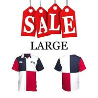 England Rugby Polo Shirt Jersey 2015 World Cup Men Boy Harlequin Large RWC Union