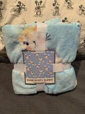 "Rainbows Kitty Cat Unicorn Caticorn Warm&Snuggly Fleece Throw Blanket 50""X 60"""