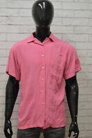 Camicia GIANFRANCO FERRE Uomo Taglia Size XL Maglia Shirt Man Manica Corta Rosa