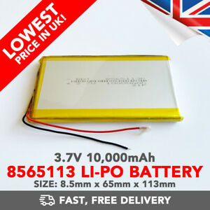 3.7V 10000mAh Li-Po Battery (8565113) Rechargeable High Capacity Tablet PC +PCM6