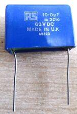 RS compomnents 10uF 63V Condensatore Pellicola Plastica