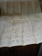 """A Large Vintage Ordnance Survey Map Of Minehead,Somerset Dated 1930 - 28"""" x 35"""""""