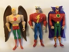 Justice League Unlimited The Flash, Green Lantern, Hawkman Action Figures
