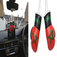 CAR Mini Boxing Gloves PAIR MOROCCO Flag Rear Mirror Hanger Hanging Accessory