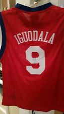 Andre Iguodala signed jersey autographed auto kids M medium #9 nba finals mvp