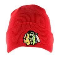 Chicago Blackhawks NHL Hockey Red Cuff Reebok Beanie Hat Cap
