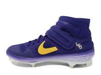 Nike Alpha Huarache Elite 2 Mid Baseball Cleats LSU Tigers AV2471-500 Sz 10.5 PE