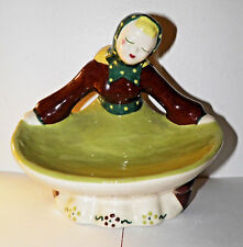 Kim Ward Hollywood Girl Figurine Trinket Valet Holder Calfornia Art Pottery Vtg