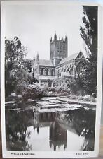 English RPPC Postcard WELLS CATHEDRAL East End England UK Real Photo Kenyon