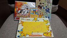 JAPANESE New Nintendo 3DS LL Pikachu version Pokemon Sun promo cards sticker