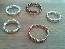 Handcrafted Copper or Silver wire wrap ring - any size