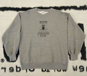 Vintage 1989 Penn State Carnegie Club Daily Collegian Graphic Sweatshirt Size XL