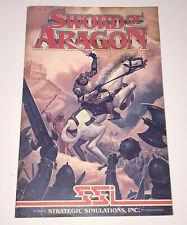 Sword Of Aragon Srategic Simulations Replacement Game Manual Apple Vintage 1989