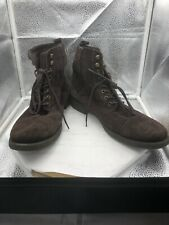 EXPRESS Brown Suede Men's Side Zip Ankle Boot Size 12