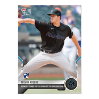 Trevor Rogers - 2021 MLB TOPPS NOW® Card 60 Miami Marlins 10K'S for ROOKIE WIN