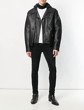 NWT Helmut Lang Mens Black layered leather jacket w/ vest S (fits up to M) £1895