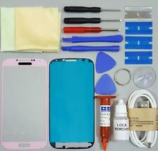 Samsung Galaxy S4 Front Glass Screen Replacement Repair Kit Pink