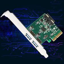 2 Ports 10Gbps USB3.1 Type A PCIe Express X4 Expansion Card LA31-12U ASM1142 GO
