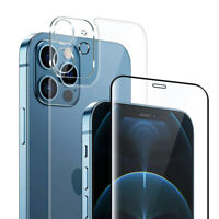 3X Front and Back Tempered Glass Film+Lens film For iPhone 8P X XR 11 12 Pro MAX