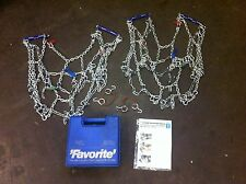 RUD SNOW CHAINS (PAIR) - RUD-FAVORITE + CARRY BOX - (NewOldStock) 00 413