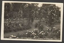 Postcard Westcliff nr Southend on Sea Essex garden Chalkwell Park posted 1921 RP