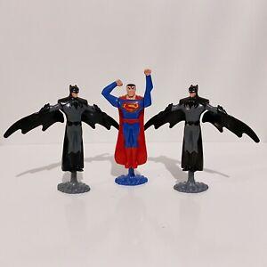 3 x DC Comics Superman Batman Burger King Toy Figures Lot