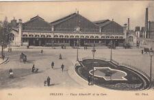 ORLEANS 381 place Albert Ier et la gare écrite 1957