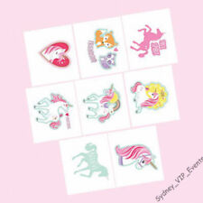 GIRLS BIRTHDAY PARTY MAGICAL UNICORN TEMPORARY TATTOOS 1 SHEET LOOT FAVOUR TREAT