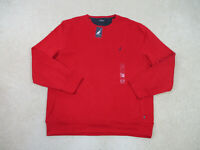 NEW Nautica Sweater Adult Extra Large Red Blue Pullover Crewneck Mens 90s B2