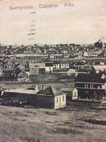Postcard, Sunnyside Calgary Alberta Houses Canada Vintage P32