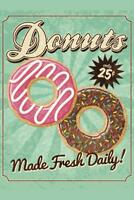 Donuts Made Fresh Daily Vintage Art Print Poster 24x36 inch