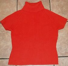 PIERRE CARDIN Burnt ORANGE TURTLENECK SWEATER~size LARGE~NEW~RUST Top NWOT