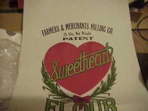 Farmers Merchants Milling Brooksville Ky Sweetheart Flour bag sack 25 llb