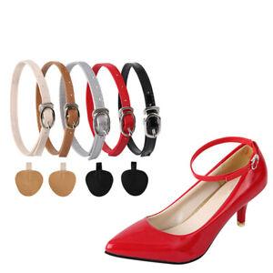 Ladies Women PU Detachable Shoe Belt Straps Band for Holding Loose High Heels