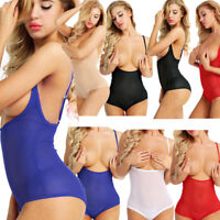 Women Belly Dancewear Chest Supportive Stretch Mesh Teddy Bodysuit Body Stocking