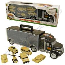 Special Forces Military Transport & Storage Toy Army Truck + 6 Vehicles Play Set