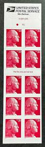 US Scott# 3483f 20c George Washington - Unfolded Booklet of 10 - MNH - 2001